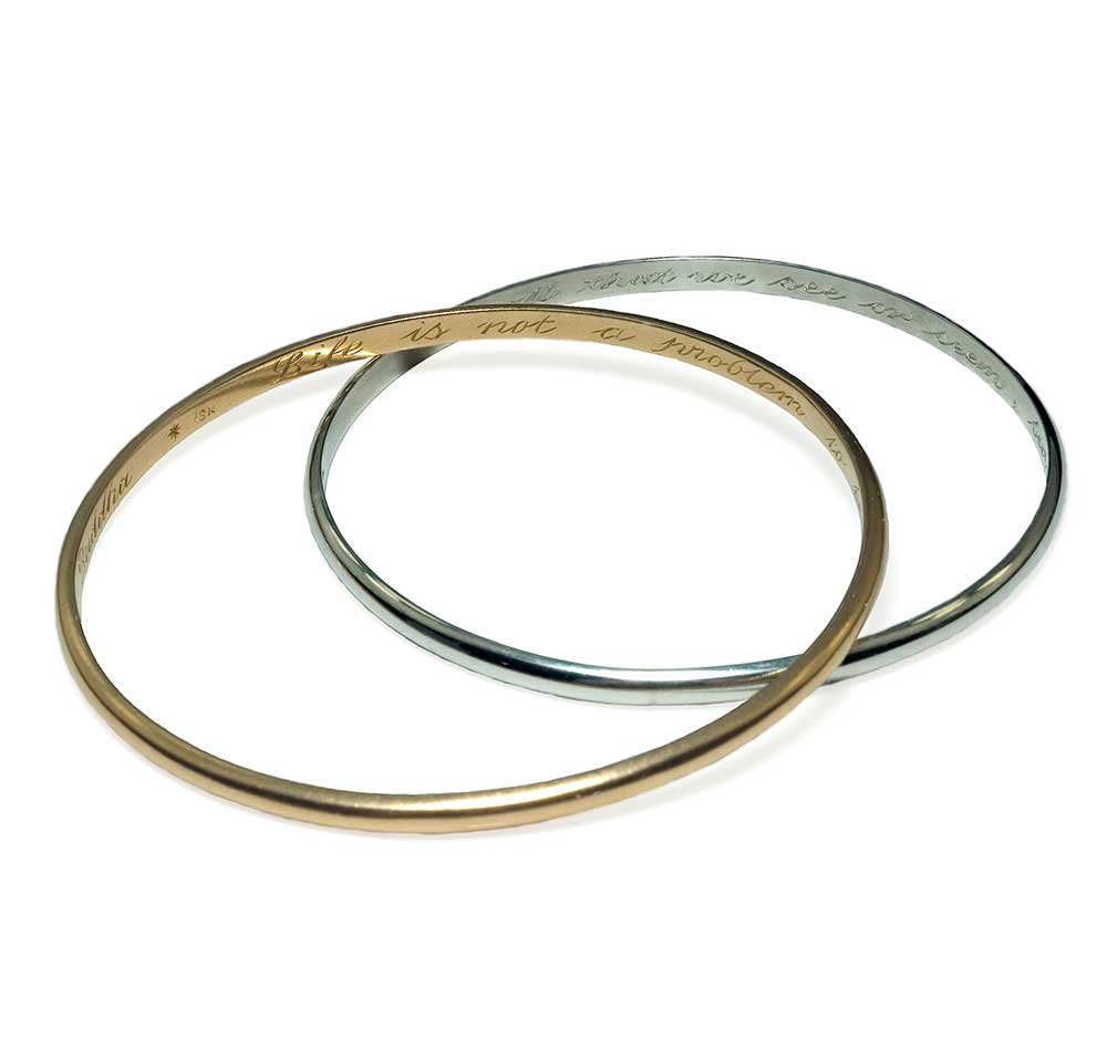 GOLD AND SILVER GOLD PLAIN BANGLES