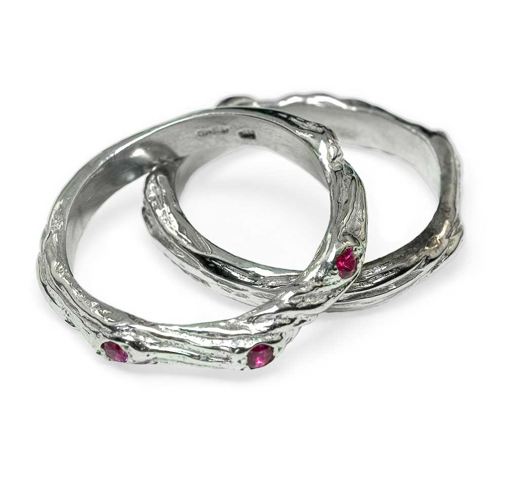 SILVER TWIG RINGS