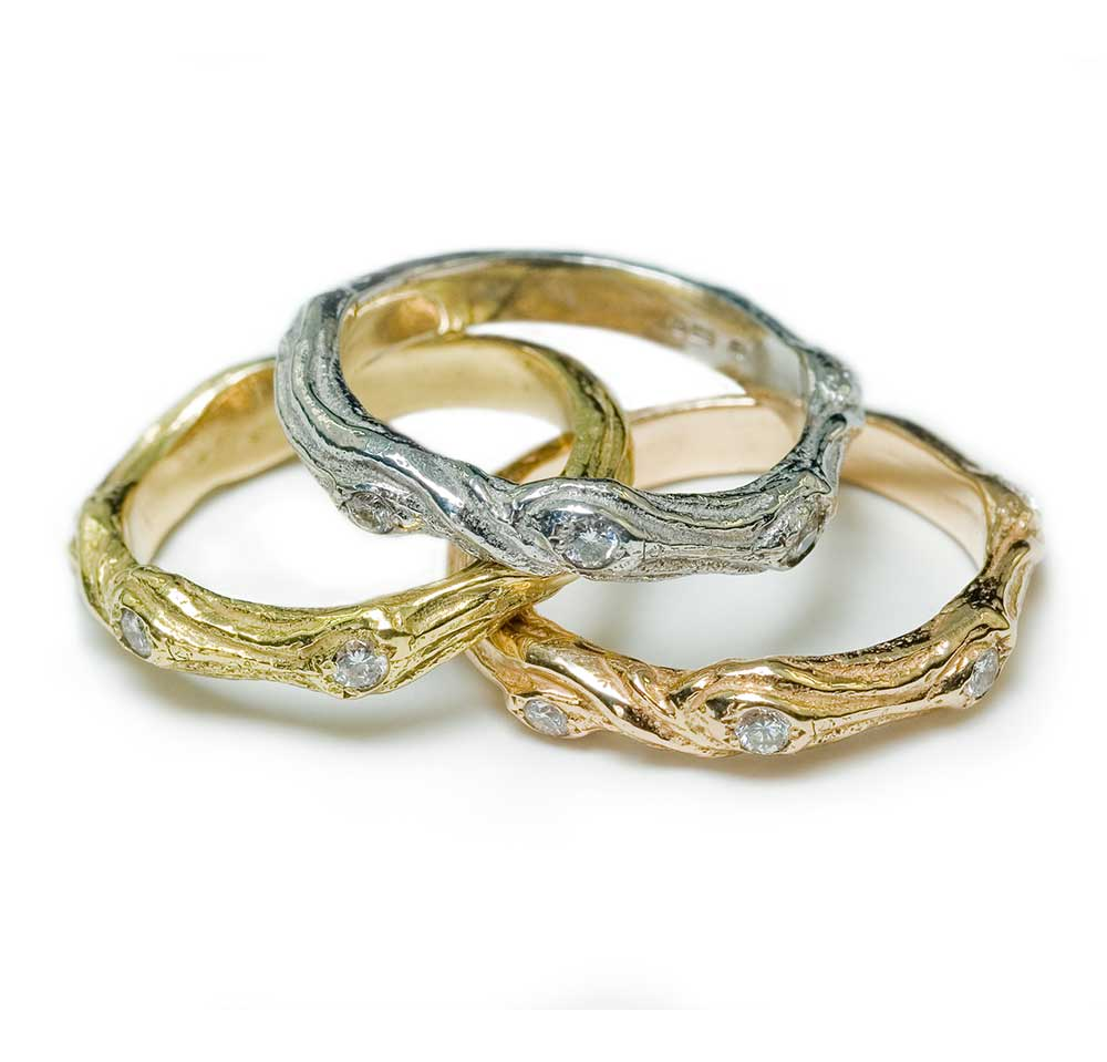 GOLD TWIG RINGS