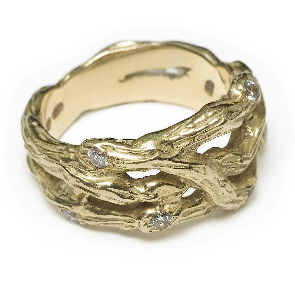 MULTI TWIG GOLD RING