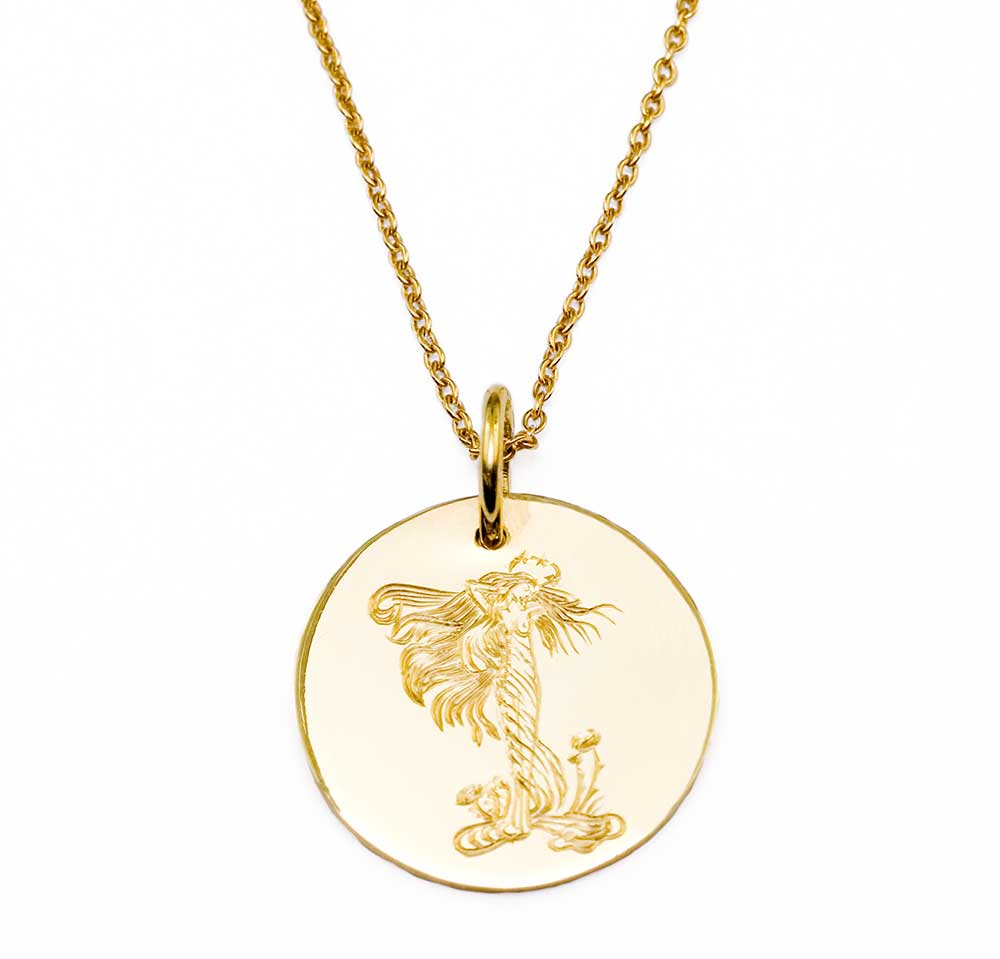 MEDIUM GOLD PRE RAPHELITE NECKLACE