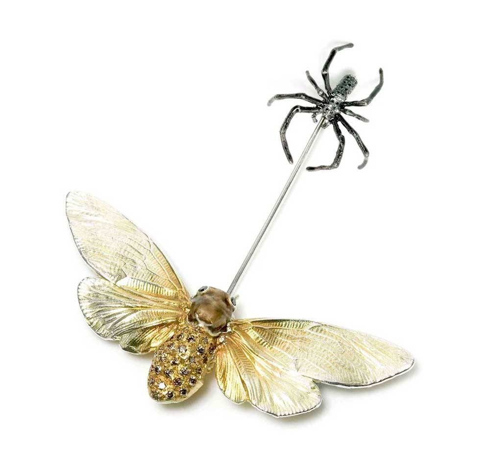 MOTH AND SPIDER PIN