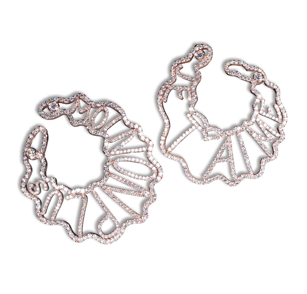 DAVID MORRIS JE T'AIME' EARRINGS